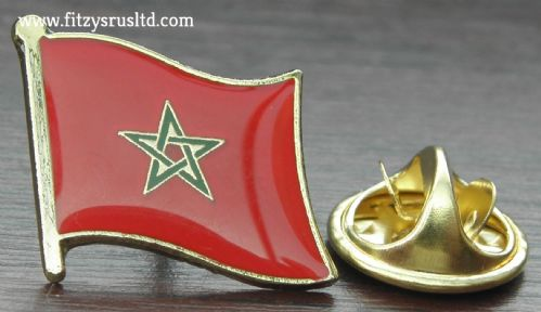 Morocco Moroccan Country Flag - Lapel - Hat - Cap - Tie Pin Badge - Brand New
